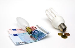 Incandescent or energy saver? Royalty Free Stock Photo