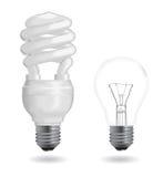 Incandescent et fluorescent Image stock