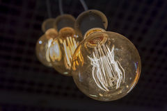 Incandescent filament lamps Stock Photography
