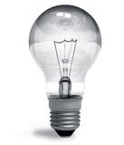 Incandescent lamp. Single incandescent lamp isolated on white background stock illustration