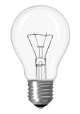 Incandescent lamp. Isolated on a white background Royalty Free Stock Image