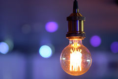 Incandescent lamp. On colorful background Stock Photography