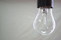 Incandescent lamp. Is hanging  on the white background Royalty Free Stock Image