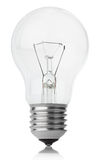 Incandescent lamp on white Royalty Free Stock Photos