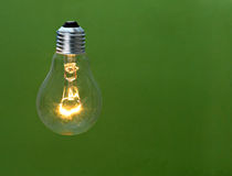 Incandescent light bulb Stock Image