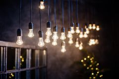 Incandescent light bulb. royalty free stock photo