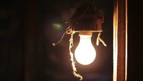 Incandescent light bulb stock video