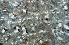 Incandescent Light Bulbs. A pile of incandescent light bulbs Royalty Free Stock Photo