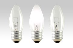 Incandescent light bulbs Royalty Free Stock Images