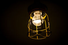 Incandescent old industrial lamp Royalty Free Stock Image