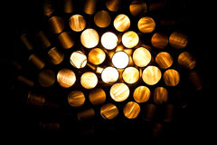 Incandescent tubes Stock Photo