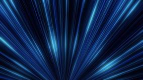 Incandescenza al neon astratta delle linee del riflettore animazione Spettacolo di luci della discoteca del laser su fondo nero L illustrazione di stock