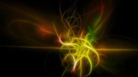 Incandescenza astratta scura delle bande gialle Fotografia Stock