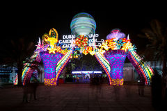 Incandescenza del giardino del Dubai Fotografia Stock