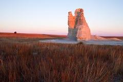 Incandescenza di alba della Castle Rock Immagine Stock