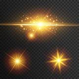 Incandescenza di effetto della luce La stella ha infiammato zecchini Priorità bassa astratta dello spazio Fascio istantaneo di pu illustrazione vettoriale