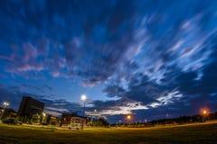 Incandescenza di tramonto dell'università alla Buffalo Immagine Stock Libera da Diritti