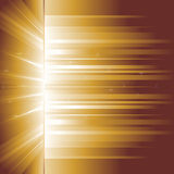 Incandescenza dorata raggi Fotografia Stock