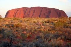 Incandescenza dorata - Uluru Fotografia Stock Libera da Diritti