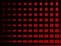 Incandescenza quadrata colore rosso Fotografia Stock