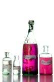 Incanti magici in bottiglie antiche Fotografie Stock Libere da Diritti