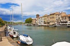 Incanto del vecchio mondo, Agde, Francia Fotografie Stock Libere da Diritti