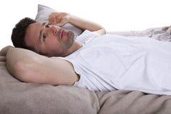 Incapace di dormire fotografie stock libere da diritti