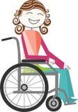 Incapacidad en silla de ruedas Imagen de archivo libre de regalías