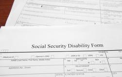 Incapacité de sécurité sociale Image libre de droits
