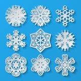 Incarti i fiocchi di neve Insieme 2 Immagine Stock