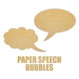 Incarti le bolle di discorso Immagine Stock