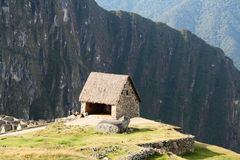 Incas city Machu-Picchu in the Peru Stock Images