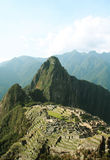 Incas city Machu-Picchu in Peru Stock Photos