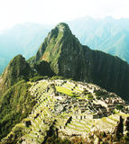 Incas city Machu-Picchu in Peru Stock Image