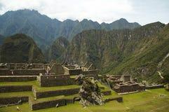 Incas city Machu-Picchu in Peru Stock Photos