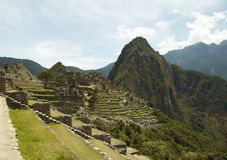 Incas city Machu-Picchu Royalty Free Stock Image
