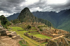Incas city of Machu Pichu in Cusco, Peru Royalty Free Stock Photos