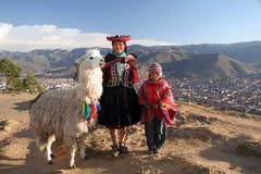 Incas family royalty free stock image