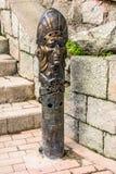 Incas kształtowali wody pitnej fontannę w Agua Calientes, Cusco, Peru Zdjęcie Royalty Free