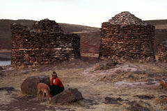 The incas tombs Royalty Free Stock Photo