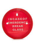 Incase of emergency break glass money box Stock Photos