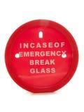 Incase of emergency break glass money box Stock Photos