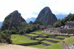 Incastaden av Machu Picchu Arkivfoton
