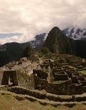 Incatempelstad Machu Picchu, Peru Arkivfoto