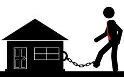 Incatenato alla casa Immagini Stock Libere da Diritti