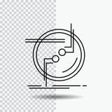 incateni, colleghi, il collegamento, il collegamento, la linea icona del cavo su fondo trasparente Illustrazione nera di vettore  royalty illustrazione gratis