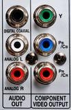 Incavi di RCA/Phono. Fotografia Stock