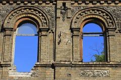 Incavi vuoti: finestre nel cielo Immagini Stock