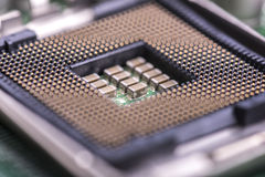 Incavo dell'unità centrale di elaborazione del computer Fotografia Stock Libera da Diritti