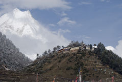 Inceadible Himalayan nationalpark Manaslu Nepal Arkivfoton